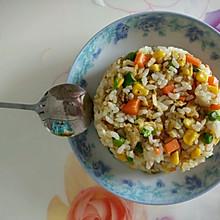 青豆玉米萝卜虾皮炒饭