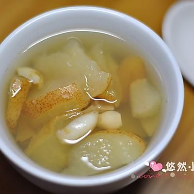 百合梨甜汤