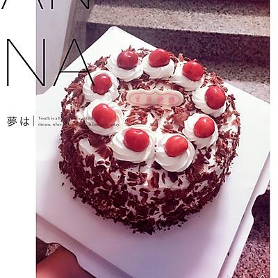 樱桃版黑森林生日蛋糕