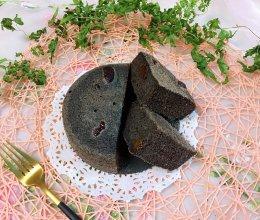 #秋天怎么吃#烫面黑米蒸蛋糕的做法