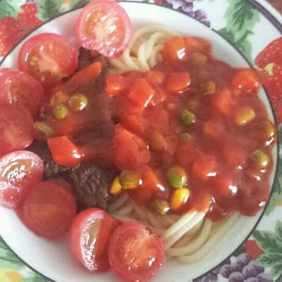 牛排番茄意面