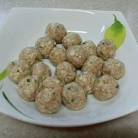 白菜豆腐丸子的做法图解3