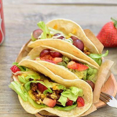 墨西哥主食-Taco(玉米饼夹肉)
