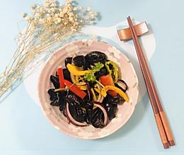 彩椒拌木耳——十分钟快手菜的做法