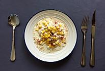 酸奶蔬果简餐+玉米蒸蛋的做法