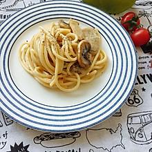 #美食视频挑战赛#奶油蘑菇意大利面