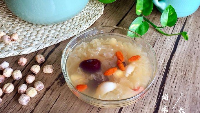银耳菜谱做法羹的莲子_百合_豆果年糕西安炒美食好吃的店图片