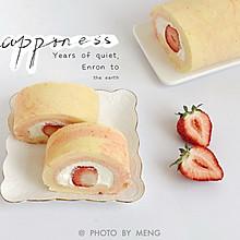 水果物语丨大理石纹草莓奶油蛋糕卷#夏日撩人滋味#