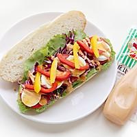 缤纷多彩三明治的做法图解5