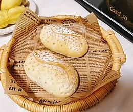 中筋粉也能做的榴莲面包||秘诀是榴莲肉哦的做法