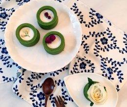 堡尔美克抹茶鲜花蛋糕的做法