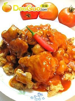 锅包肉+酱油麻油拌黄瓜
