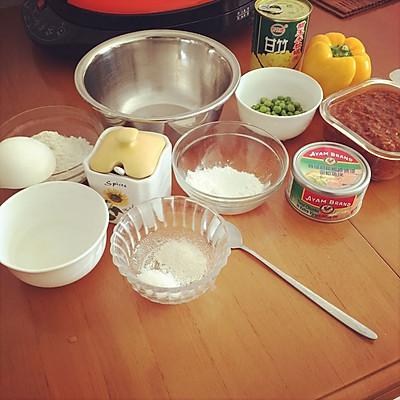 利仁电饼铛试用——海陆双拼披萨(附薄饼底与披萨酱制作)的做法 步骤1