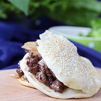 老北京烧饼夹烤肉#利仁电饼铛,烙烤不翻锅#的做法图解20