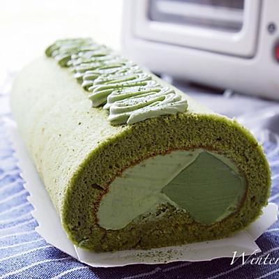 抹茶奶冻蛋糕卷(抹茶控~)