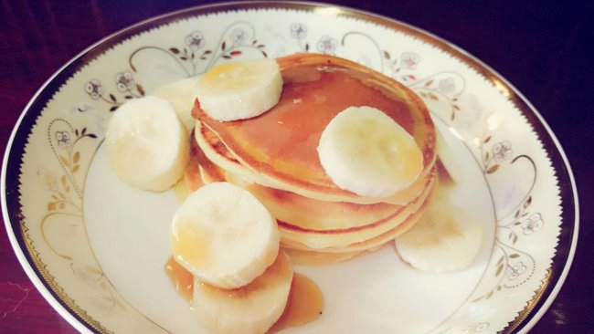 Pancake--香蕉热煎饼的做法