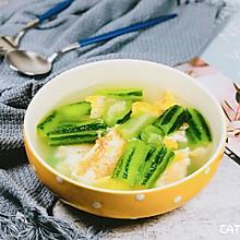 含丰富维生素BC—丝瓜鸡蛋汤