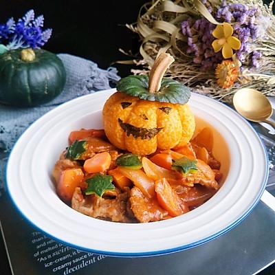 番茄红烩牛肉南瓜饭
