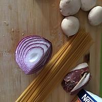 奶油蘑菇意大利面的做法图解1