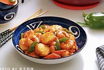 茄汁虾仁日本豆腐的做法