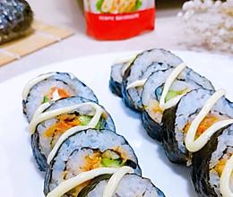 丘比沙拉肉松寿司的做法