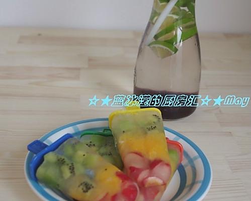 无糖水果冰棒的做法