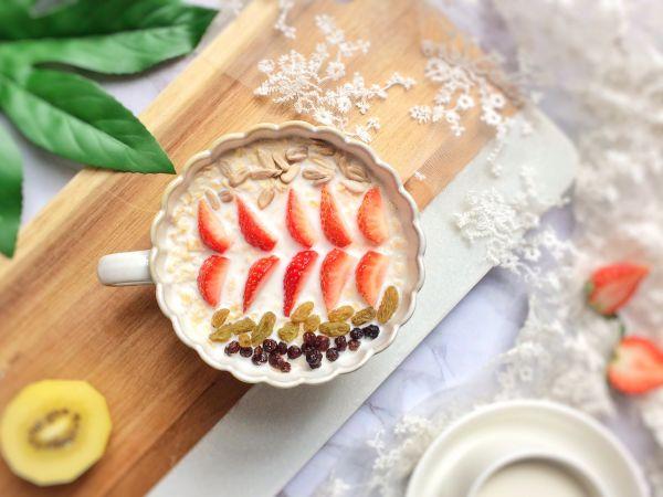 水果燕麦牛奶的做法