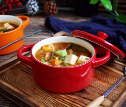 海鲜(白蚬子)豆腐大酱汤的做法