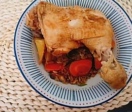 电饭锅焖鸡腿饭的做法