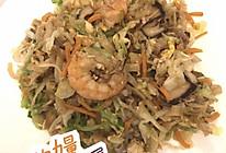 虾仁杂蔬炒饼的做法