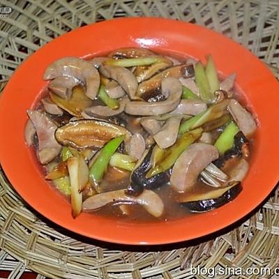 猪腰炒香菇