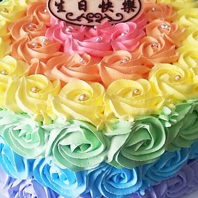 全新0失败 彩虹蛋糕 8寸6寸通用