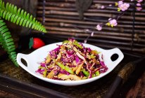 #精品菜谱挑战赛#凉拌紫甘蓝香干的做法