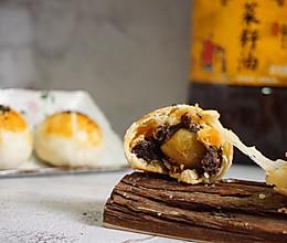 拉丝麻薯肉松蛋黄酥#金龙鱼外婆乡小榨菜籽油 外婆的时光机#