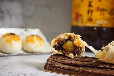 拉丝麻薯肉松蛋黄酥
