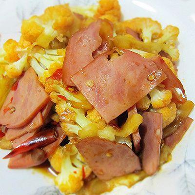 花菜炒火腿