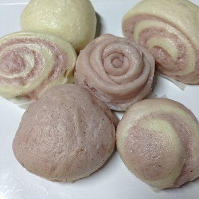 紫薯双色 馒头 包子