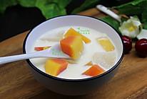 木瓜牛奶炖雪梨的做法