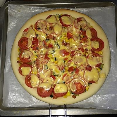 简易芝士披萨(pizza)的做法 步骤7