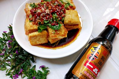 浇汁脆皮豆腐