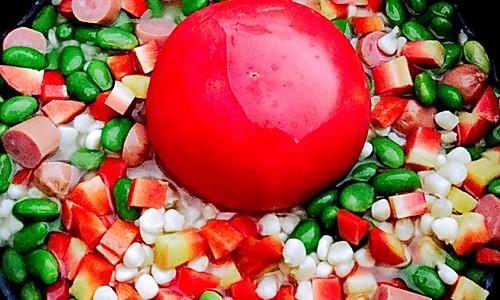 【整个番茄饭豪华版】电饭煲懒人必会的做法