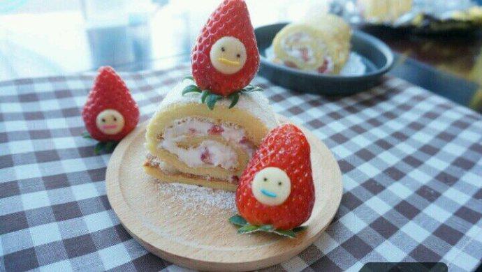 蛋糕卷--草莓瑞士卷