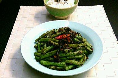 梅干菜干煸刀豆(四季豆)