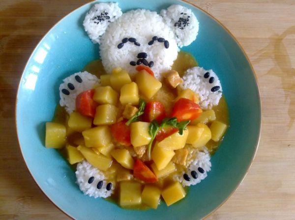 爱心小熊饭的做法