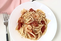低卡蝦仁番茄意麵的做法