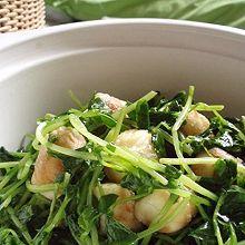 豌豆苗鹌鹑蛋组合