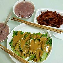 芝麻酱油麦菜(绿茶餐厅自制版)