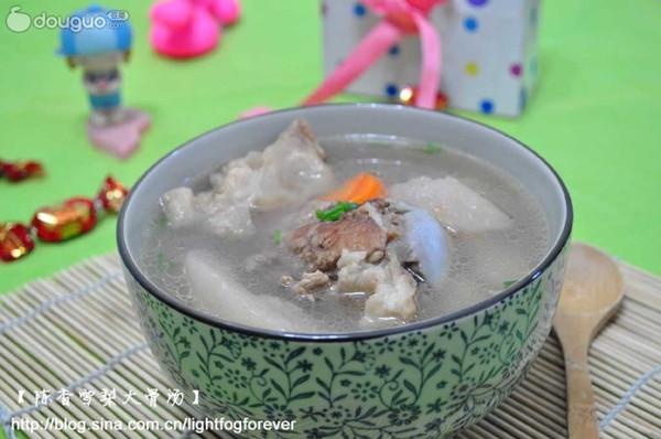 陈香雪梨大骨汤的做法
