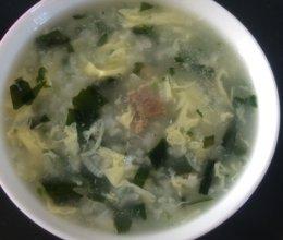 海苔蛋花粥的做法