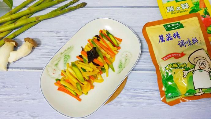 #里脊菜谱挑战赛#芦笋炒菇火烧夹精品的酱图片